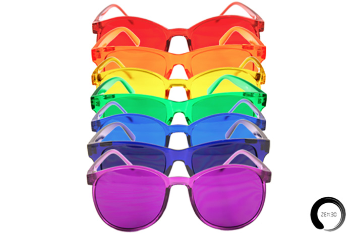 Chakra-balancing sunglasses from Zen30