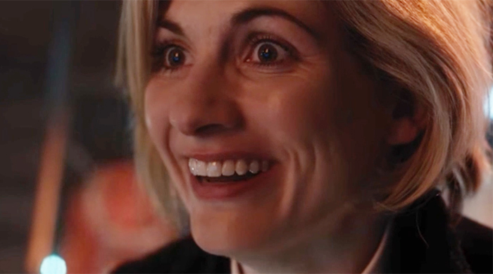 Jodie Whittaker smiles as Doctor Who's 13th Doctor
