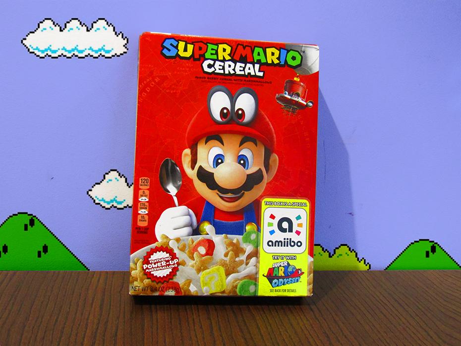 Super Mario Cereal box