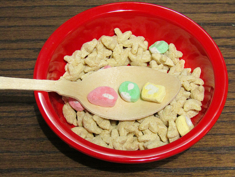 Super Mario Cereal marshmallw