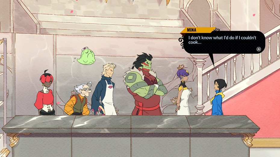 Battle Chef Brigade: Mina with the other characters