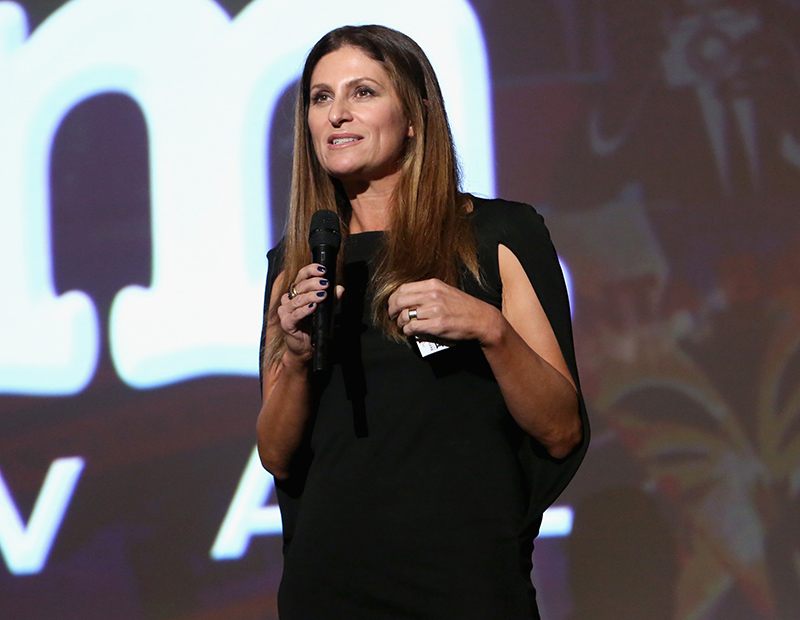 SANTA BARBARA, CA - FEBRUARY 07: Director Niki Caro speaks onstage during The Santa Barbara Film Festival Closing Night Screening of McFarland, USA at The Arlington Theatre on February 7, 2015 in Santa Barbara, California. (Photo by Jesse Grant/Getty Images for Disney)
