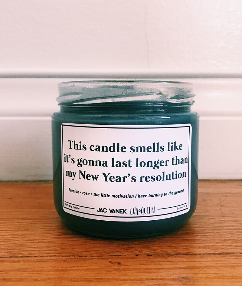 New Year-scented candle from Jac Vanek