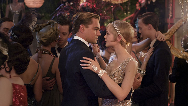 Daisy and Gatsby dancing at one of Gatsby's parties in the 2013 film The Great Gatsby