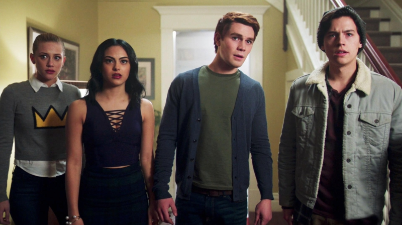 Betty, Archie, Veronica, and Jughead Looking Concerned