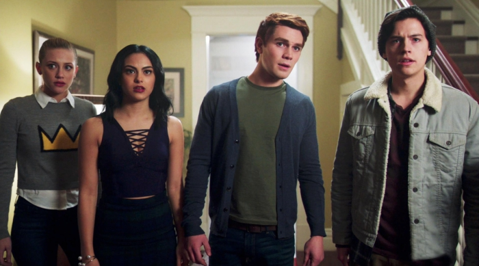 Betty, Veronica, Archie, and Jughead Looking Concerned