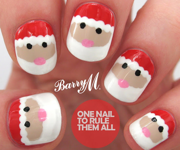 Santa claus nail design gallery nail art and nail design ideas easy to follow diy holiday nail design tutorials santa claus nails prinsesfo gallery prinsesfo Images