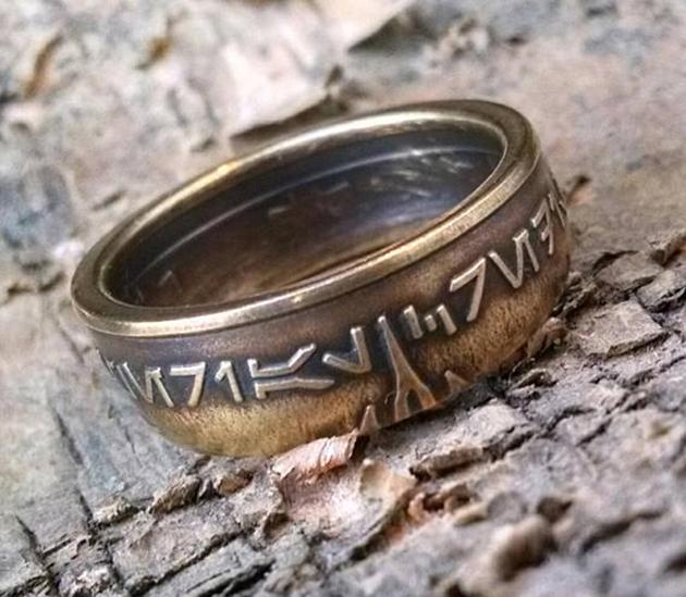 Star Wars aurebesh ring