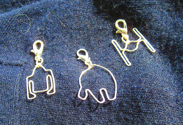 Star Wars wire charms