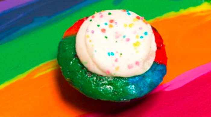 Baked by Melissa's tie-dye cupcakes