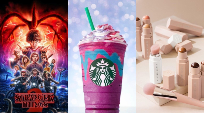 Stranger Things 2, Unicorn Frap, Fenty Beauty products