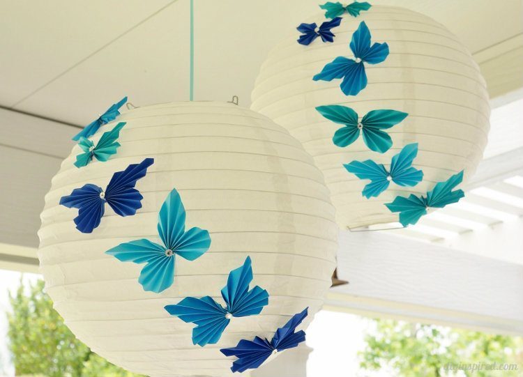 Paper accordion butterflies
