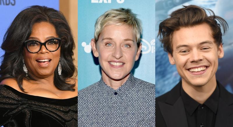 Oprah, Ellen DeGeneres and Harry Styles