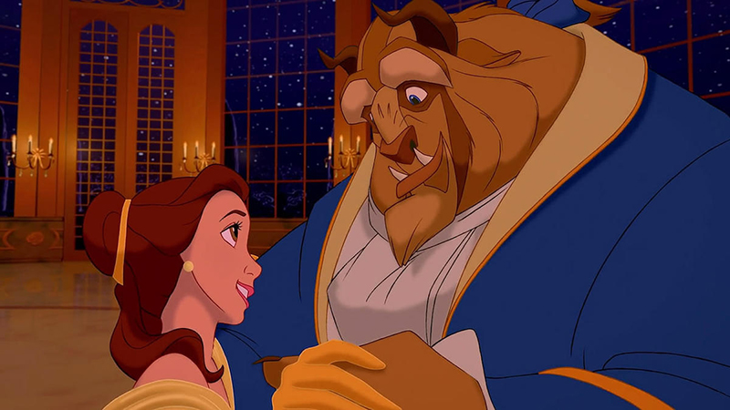 Beauty and the Beast ballroom dancing scene