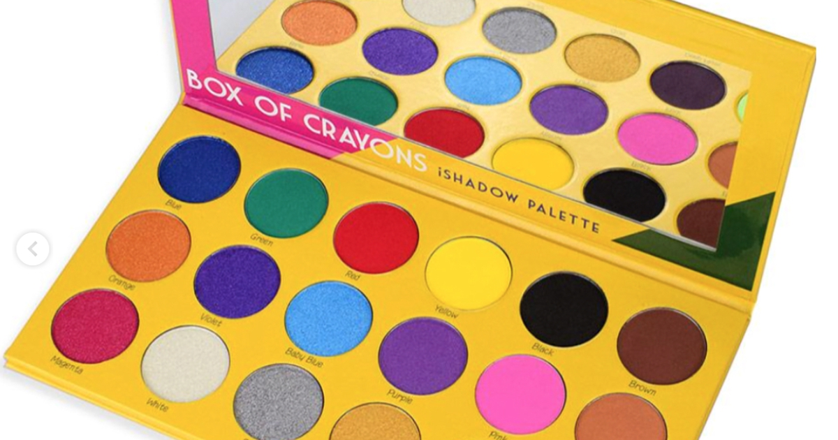 box of crayons ishadow palette from the crayon case