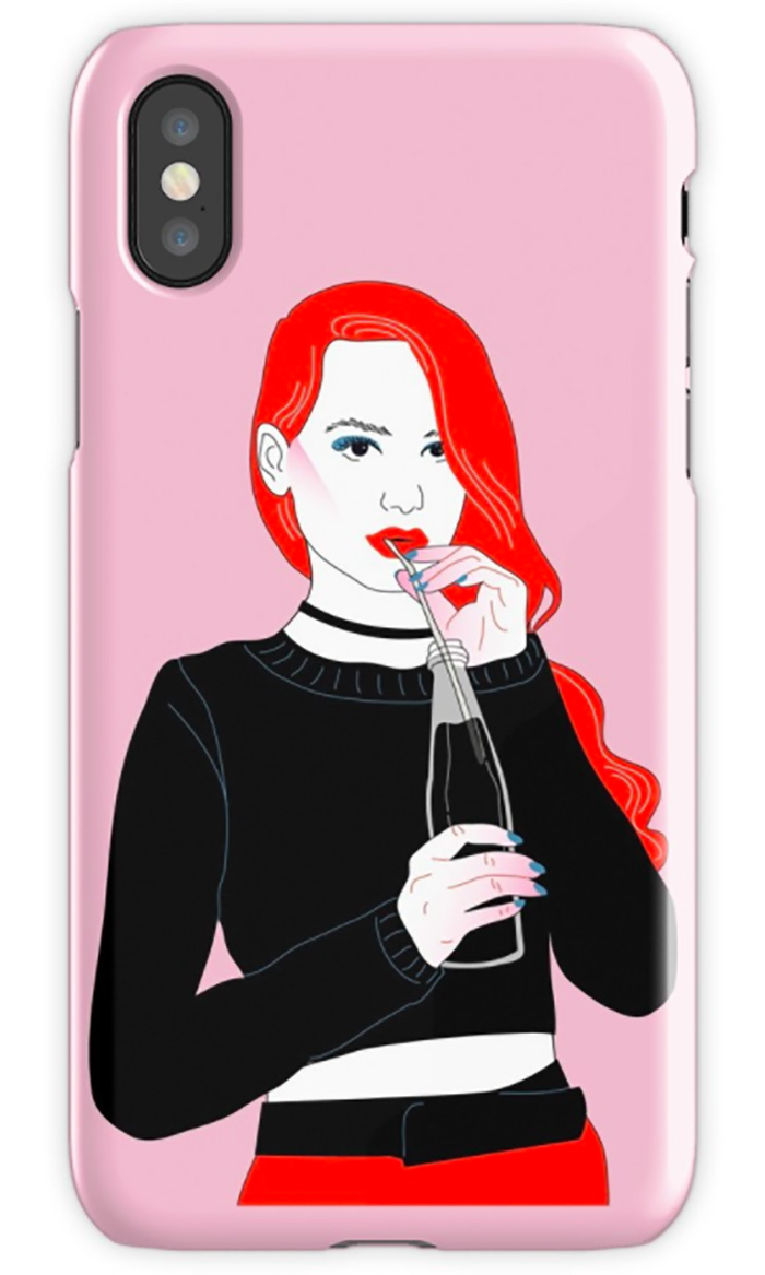 Cheryl Blossom-inspired phone case from Redbubble