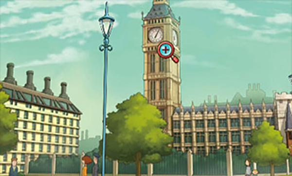 Layton's Mystery Journey: Katrielle and the Millionaires' Conspiracy Investigating Big Ben