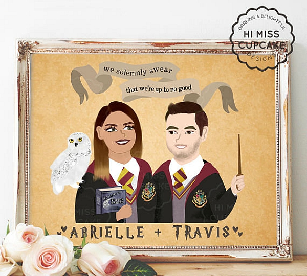 Custom couple Harry Potter print