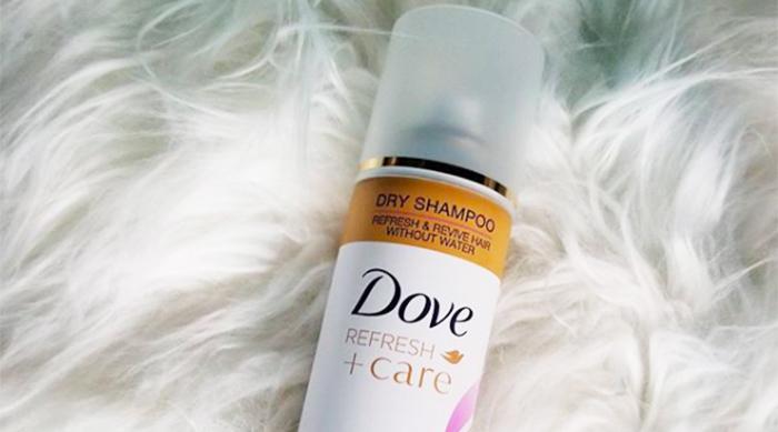 Dove's Refresh + Care volume & fullness dry shampoo