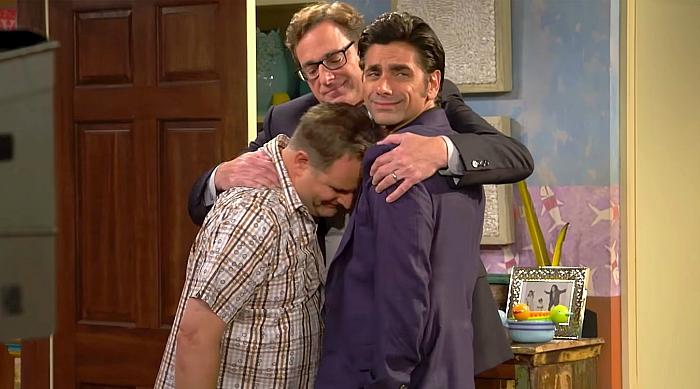 Fuller House group hug