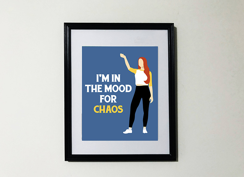 I'm in the Mood for Chaos Cheryl Blossom print from Etsy