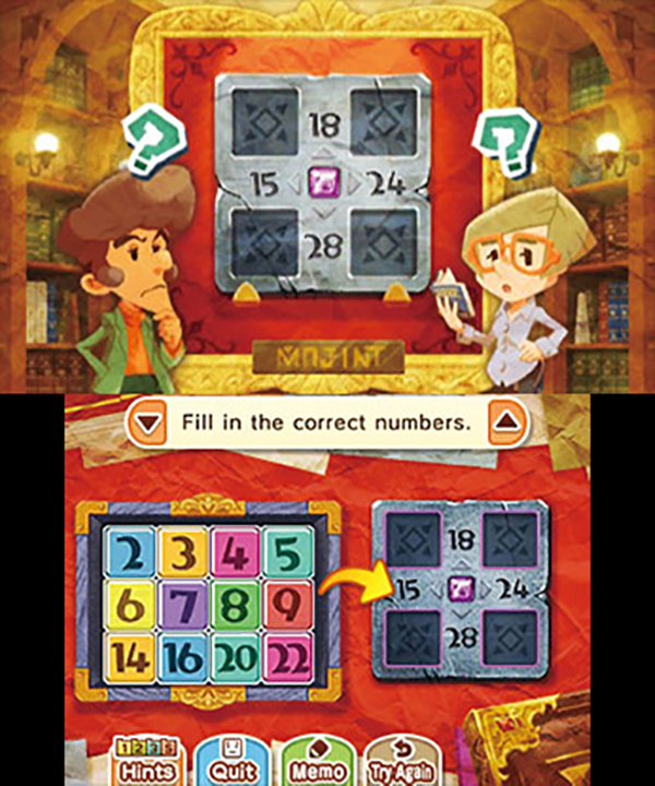 Layton's Mystery Journey: Katrielle and the Millionaires' Conspiracy Solving a puzzle