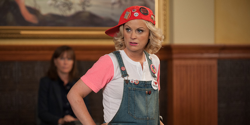 "PARKS AND RECREATION -- ""Filibuster"" Episode 605 -- Pictured: Amy Poehler as Leslie Knope -- (Photo by: Colleen Hayes/NBC/NBCU Photo Bank via Getty Images)"
