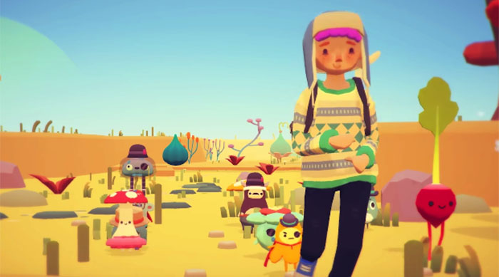Ooblets gameplay player and monsters