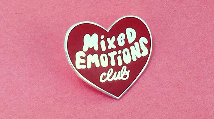 Mixed Emotions Club lapel pin