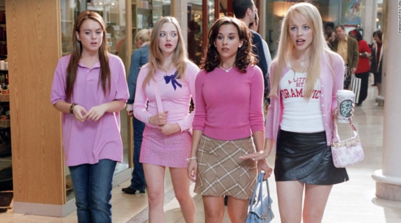 Regina, Gretchen, Karen and Cady at the Mall