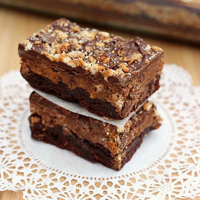 Samoa truffle brownies recipe