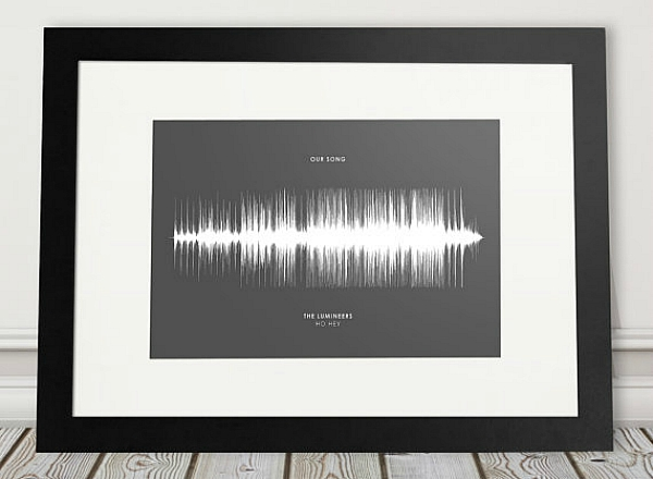Example song sound wave print