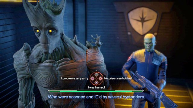 Telltale Guardians of the Galaxy Groot choices