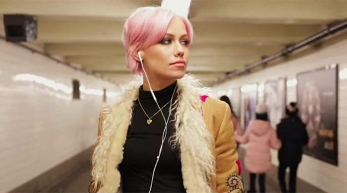 Jenna McDougall in Tonight Alive's 'Disappear' music video