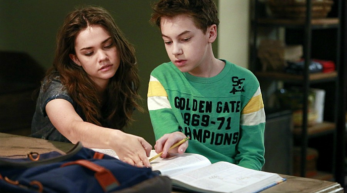 Callie helping Jude with homework