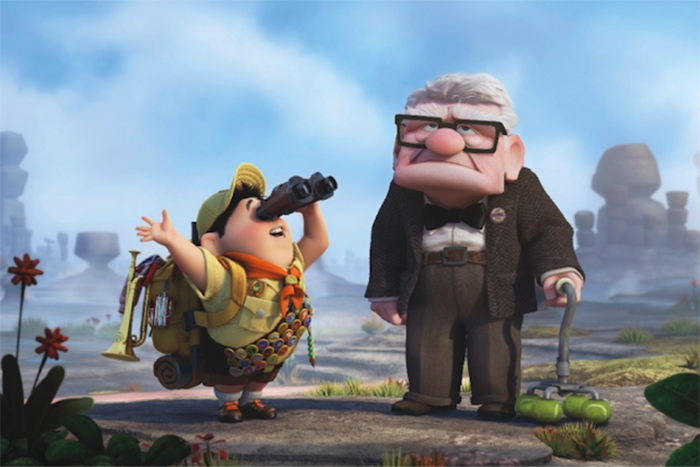 Carl and Russell in Up