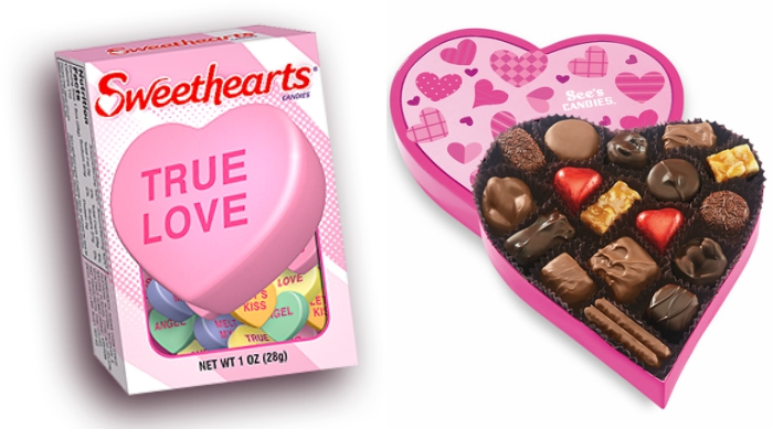 Sweethearts and See's Candy box