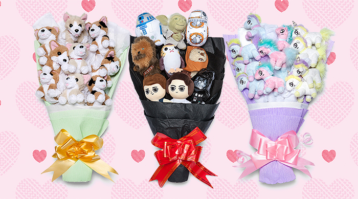 ThinkGeek Valentine's Day geeky bouquets: Corgis, Star Wars and unicorns