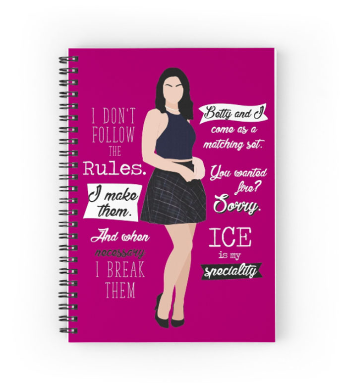 Veronica Lodge-inspired notebook from Redbubble