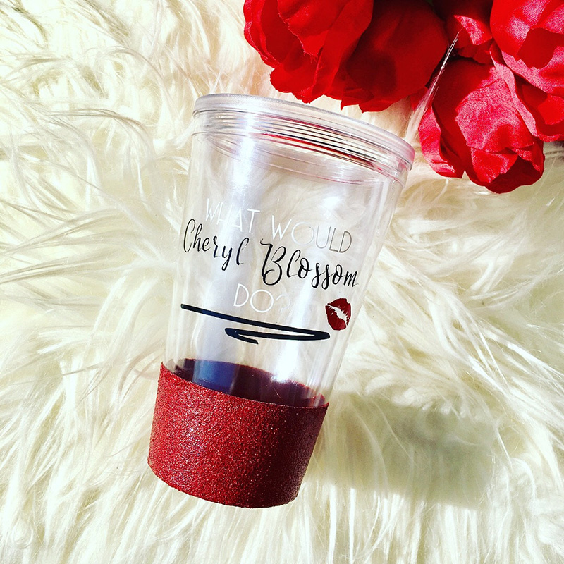 What Would Cheryl Blossom Do? tumbler from Etsy
