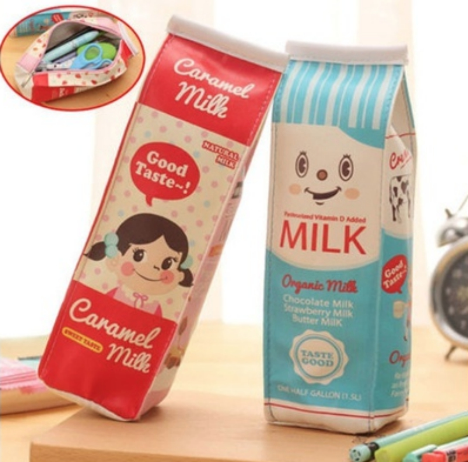 milk carton pencil bag
