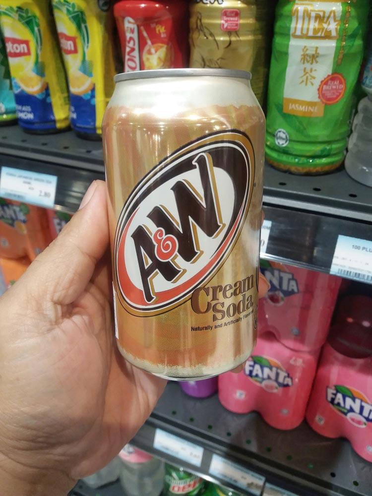 A&W Cream Soda can