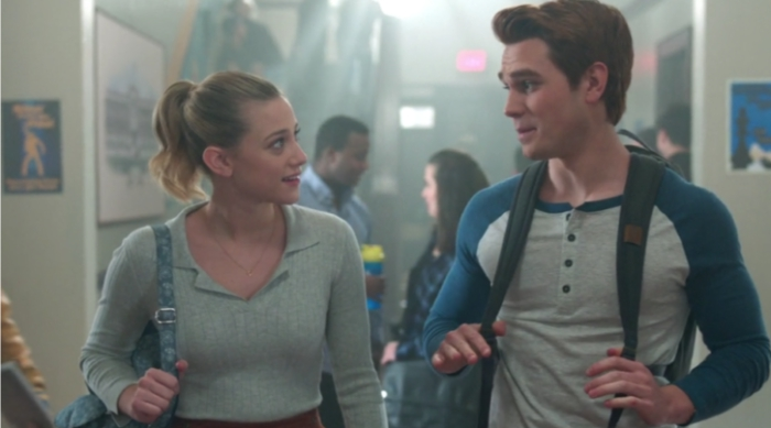 Betty and Archie Walking the School Hallways