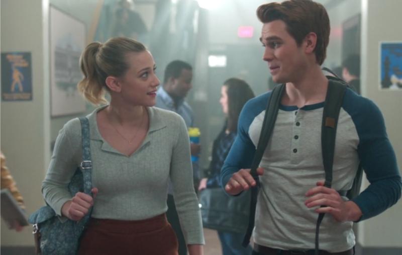 Betty and Archie Walking the School Hallways