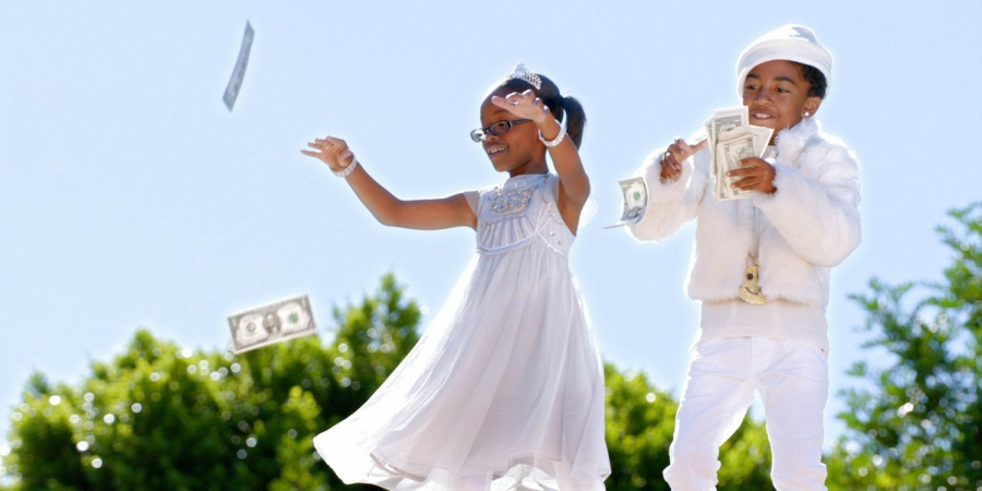 Black-ish Jack and Diane throwing money in the air