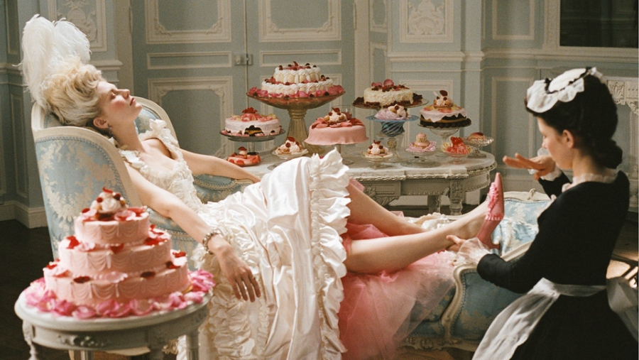 Marie Antoinette being pampered