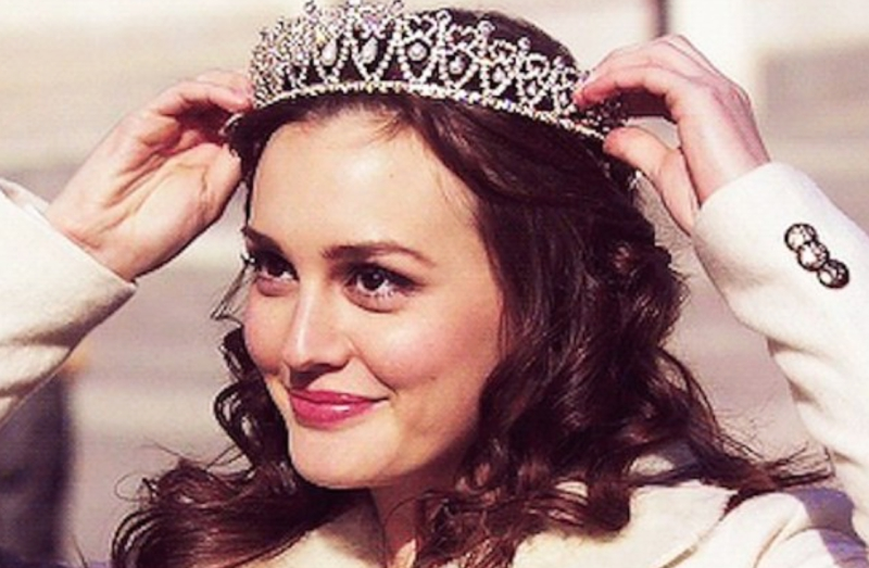 Blair Waldorf Wearing a Crown