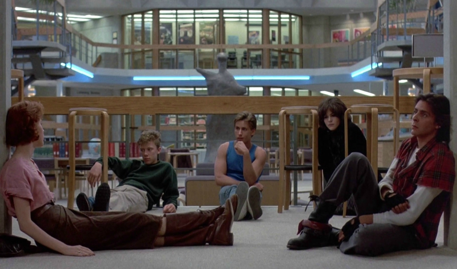 The Breakfast Club gang hanging out
