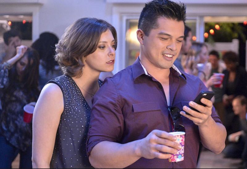 Rebecca Staring at Josh's Phone
