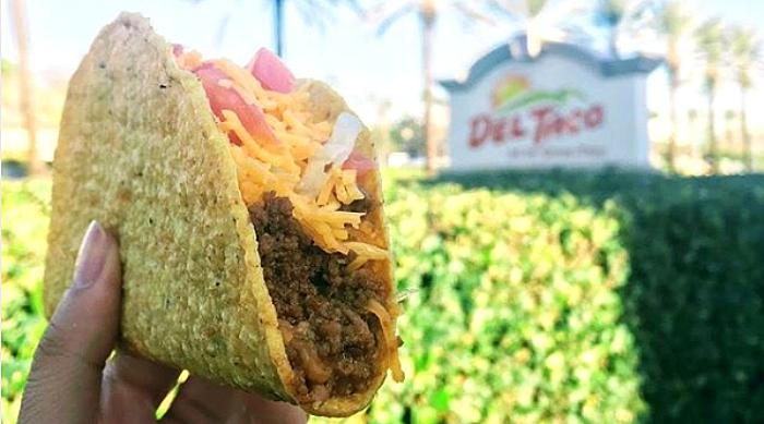 The Del Taco taco